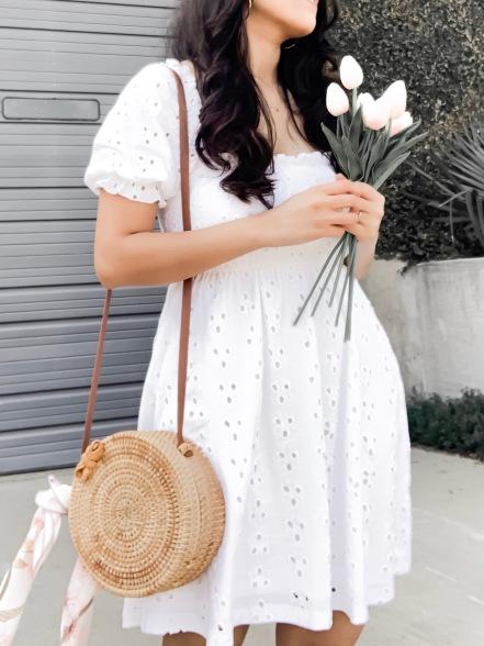 White Eyelet dress for summer